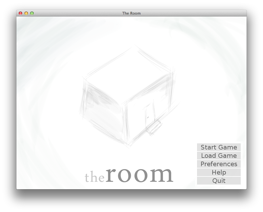 The Room opening screen